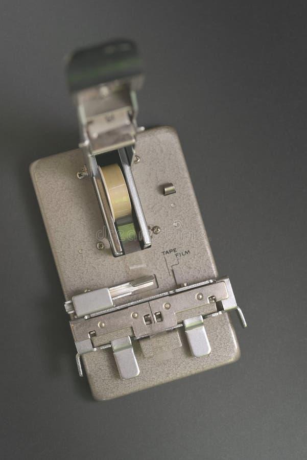 detalhe de edição da máquina de 8mm fotos de stock