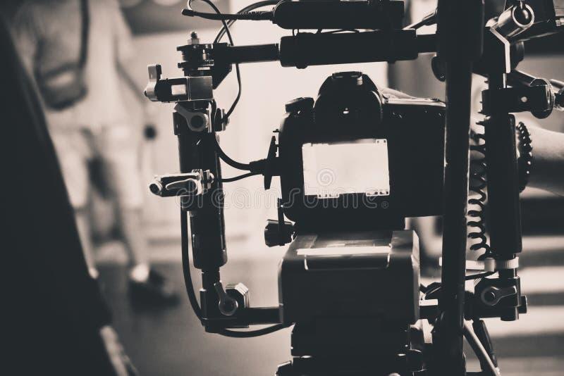 Detalhe de equipamento profissional da câmera imagens de stock