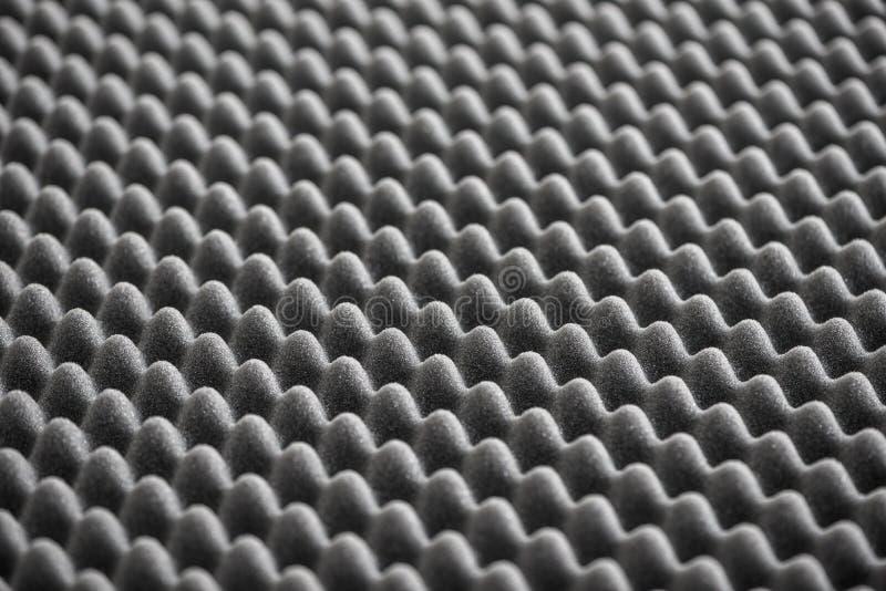 Detalhe de espuma acústica no estúdio de gravação imagens de stock
