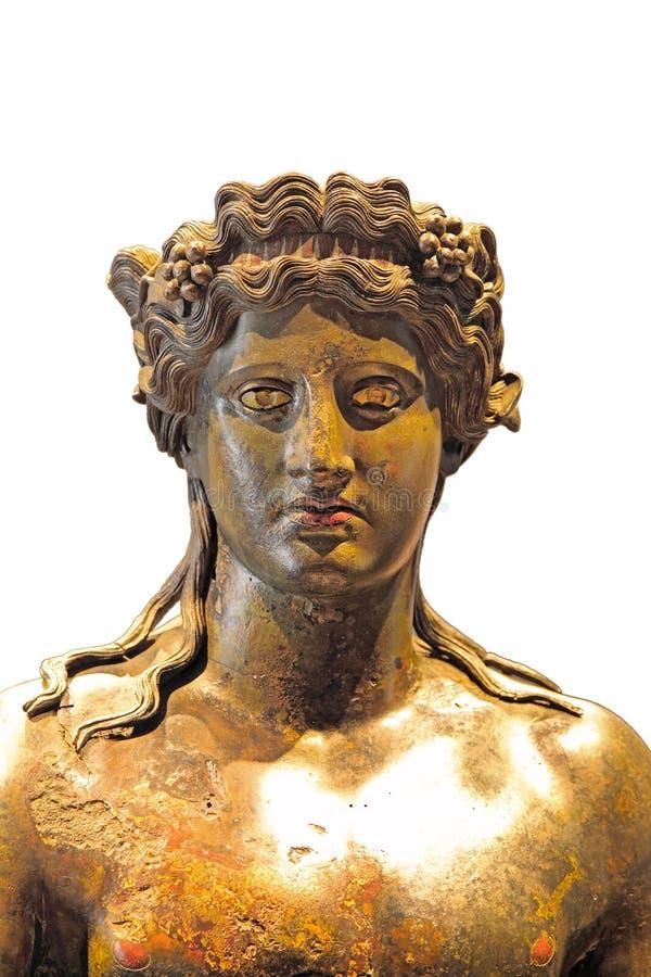 Detalhe de estátua antiga isolado fotografia de stock