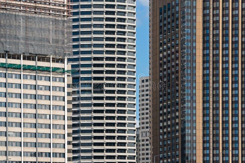 Detalhe de exterior da construção moderna do corporaçõ e da construção da construção em sydney, Austrália fotos de stock royalty free