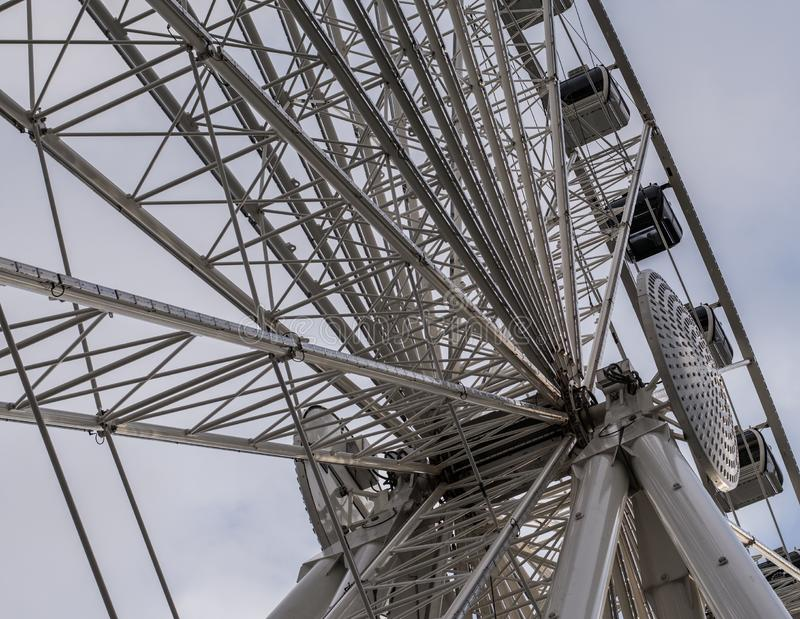 Detalhe de Ferris Wheel imagens de stock