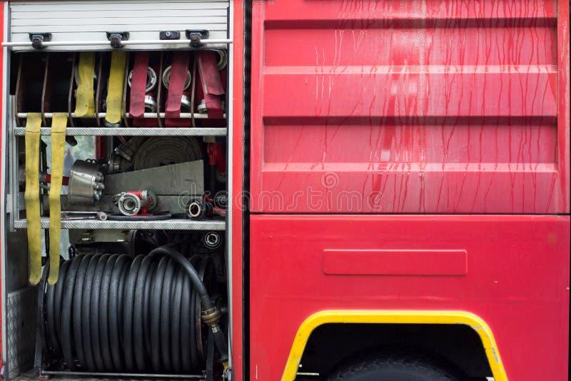 Detalhe de firetruck foto de stock royalty free