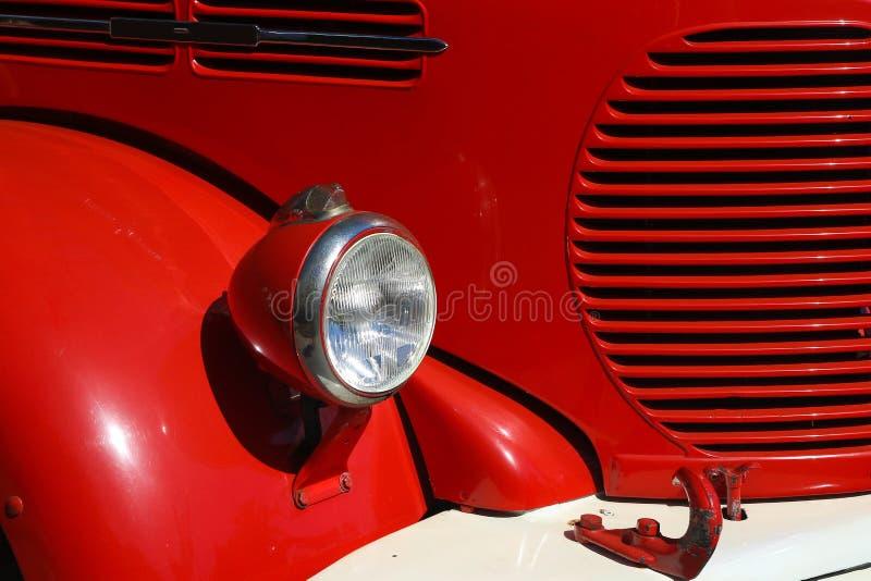 Detalhe de firetruck velho do vintage imagens de stock