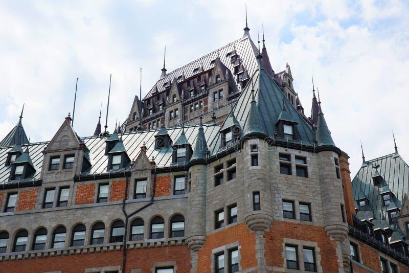 Detalhe de Frontenac do castelo fotografia de stock royalty free