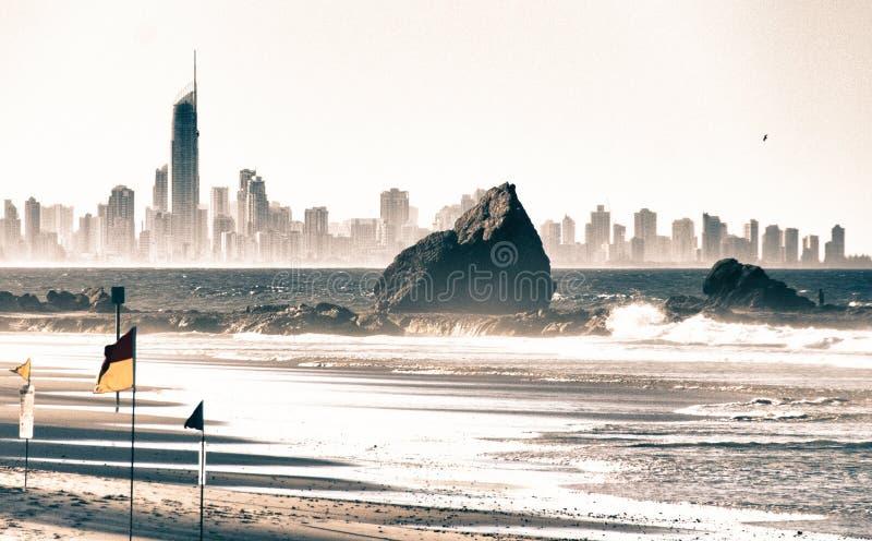 Detalhe de Gold Coast, Austrália imagem de stock