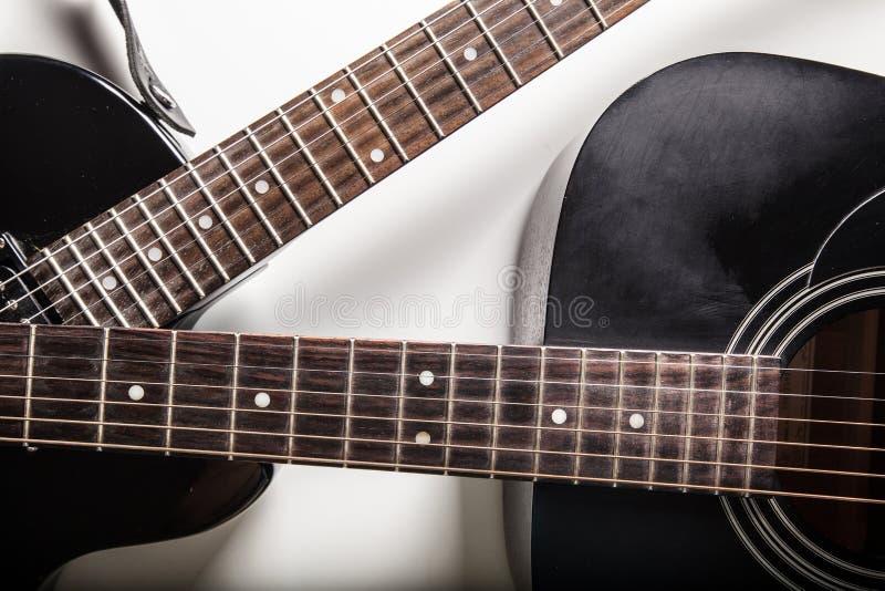 Detalhe de guitarra clássica fotografia de stock