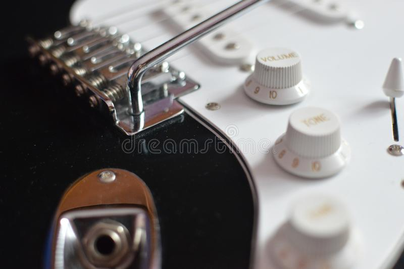 Detalhe de guitarra elétrica, close up fotos de stock royalty free