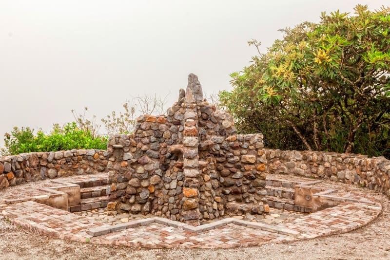 Detalhe de Inca Bathroom antigo, Equador, Ámérica do Sul fotos de stock royalty free