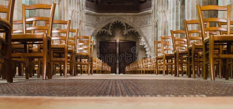 Catedral de Autun, France fotos de stock royalty free