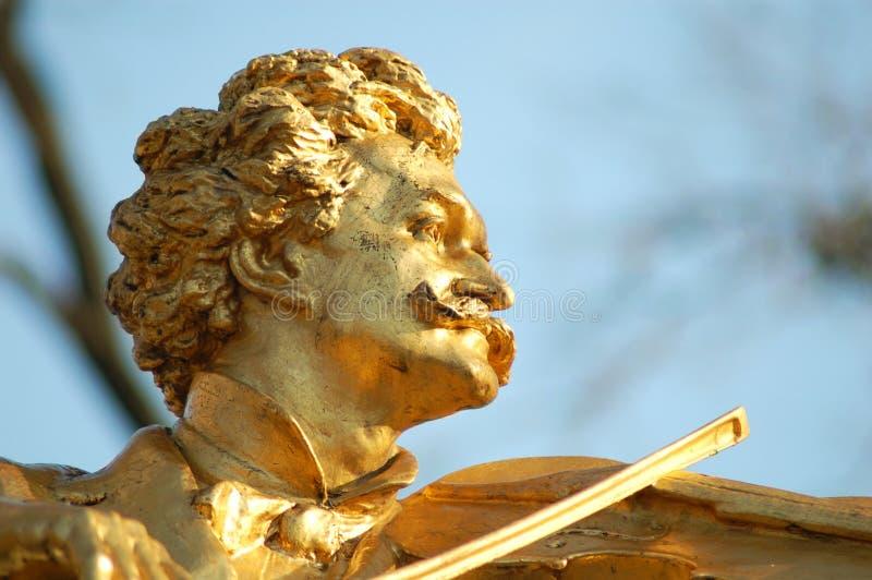 Detalhe de Johann Strauss Viena imagens de stock