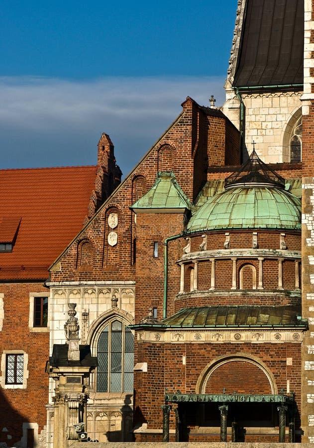 Detalhe de Krakow Wawel imagens de stock royalty free