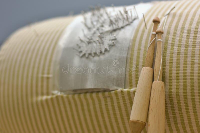 Detalhe de laço da bobina imagens de stock
