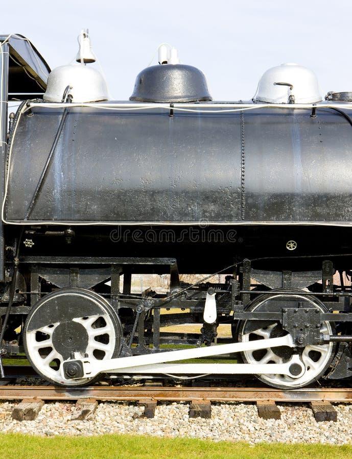 detalhe de locomotiva de vapor, Groveton, New Hampshire, EUA foto de stock