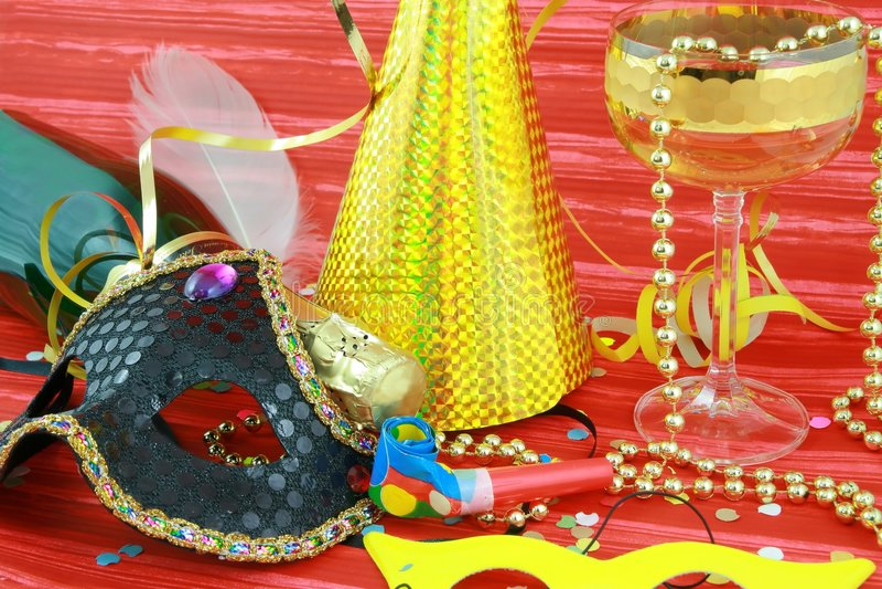 Detalhe de máscara do carnaval fotografia de stock