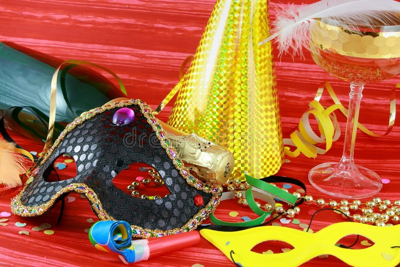 Detalhe de máscara do carnaval fotos de stock