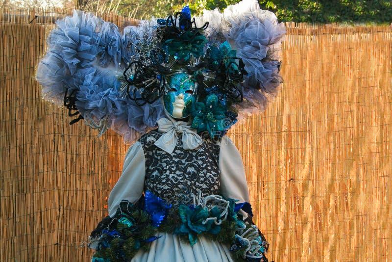 Detalhe de máscara do carnaval em Itália imagens de stock royalty free