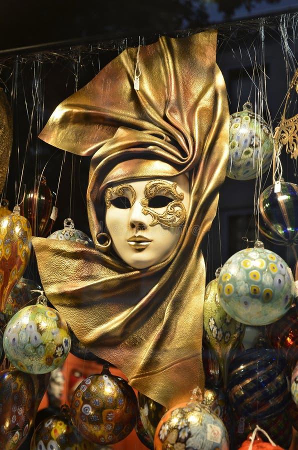 Detalhe de máscara típica do carnaval de Veneza imagens de stock royalty free