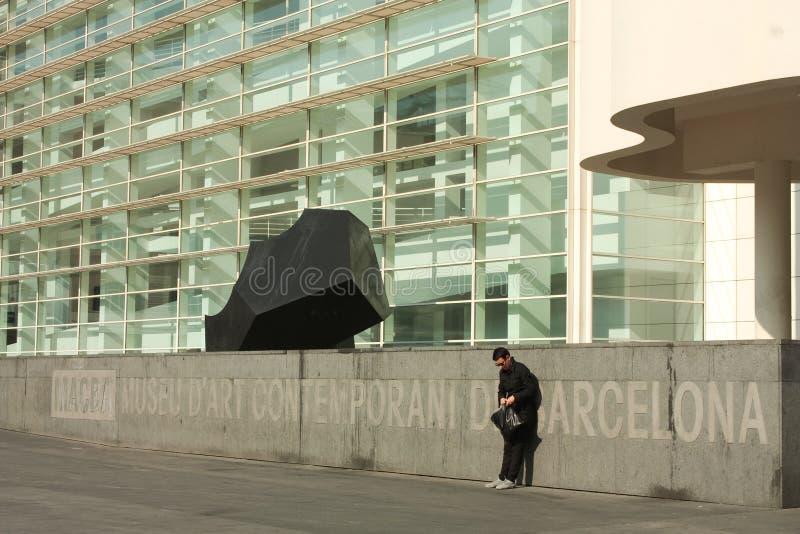 Detalhe de MACBA, distrito Barcelona de Raval imagem de stock royalty free