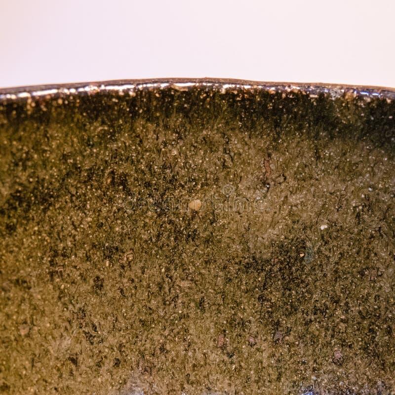 Detalhe de mercadoria feito a mão japonesa da cerâmica de Tokoname imagens de stock royalty free