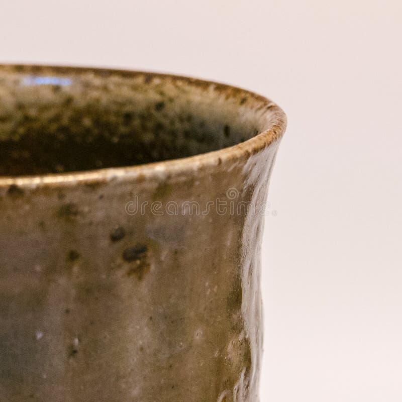 Detalhe de mercadoria feito a mão japonesa da cerâmica de Tokoname fotografia de stock royalty free