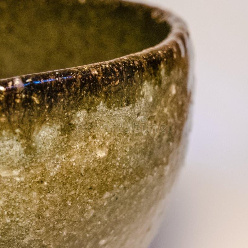 Detalhe de mercadoria feito a mão japonesa da cerâmica de Tokoname fotos de stock
