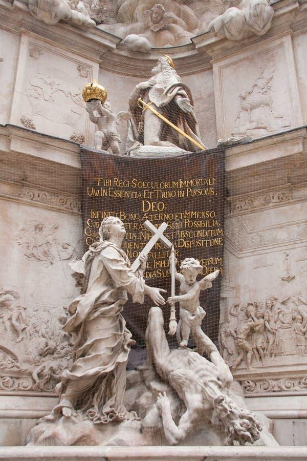 Detalhe de monumento de Viena imagem de stock