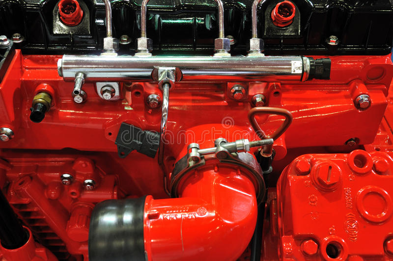 Detalhe De Motor De Diesel Fotografia de Stock Royalty Free