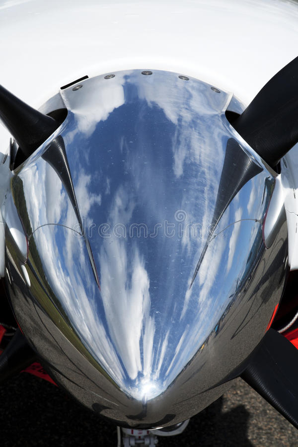 Detalhe de motor do avião do negócio imagens de stock royalty free