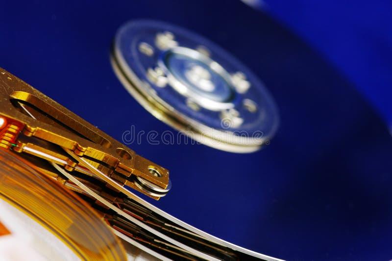 Detalhe de movimentação do disco rígido fotografia de stock