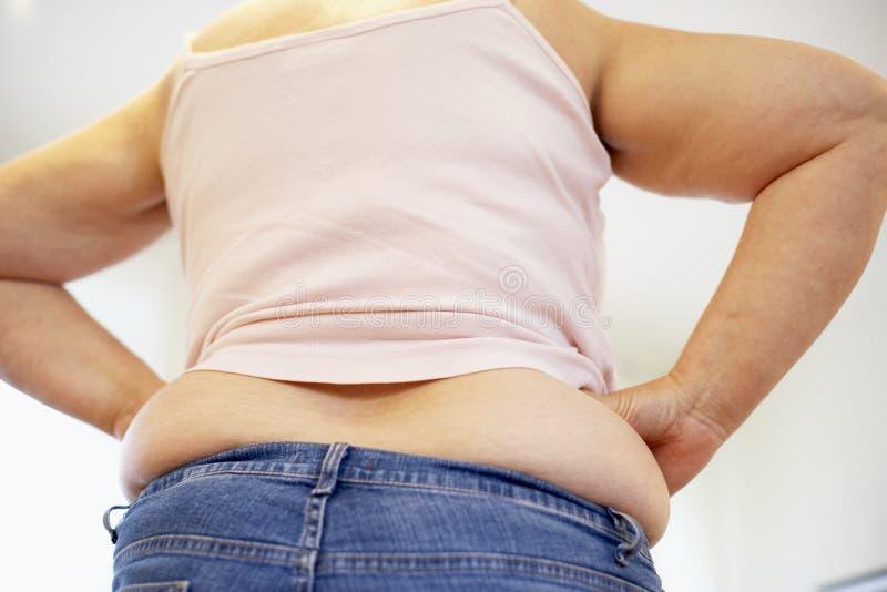 Detalhe de mulher do excesso de peso fotografia de stock