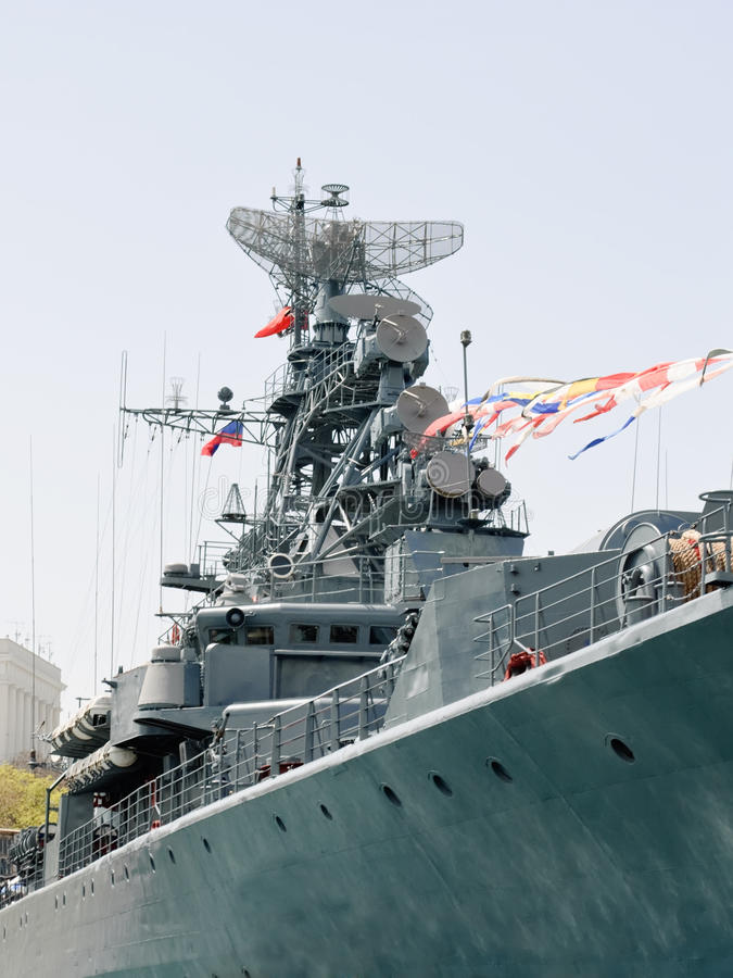 Detalhe de navio de guerra foto de stock royalty free