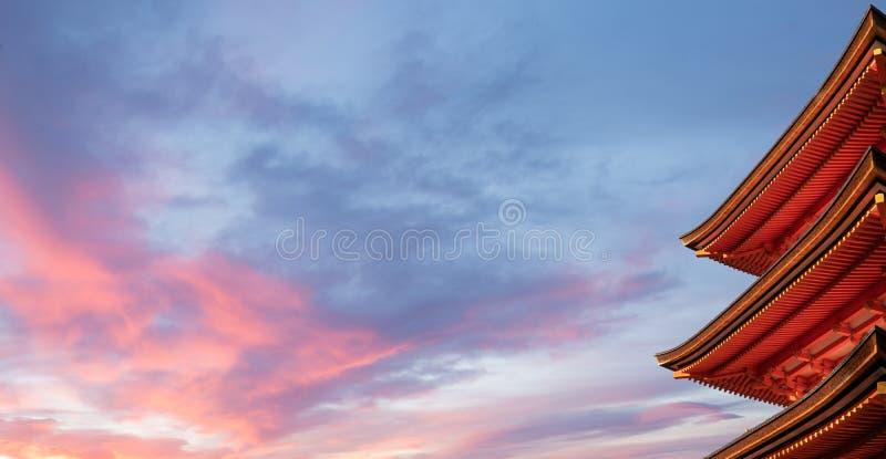 Detalhe de pagode japonês foto de stock