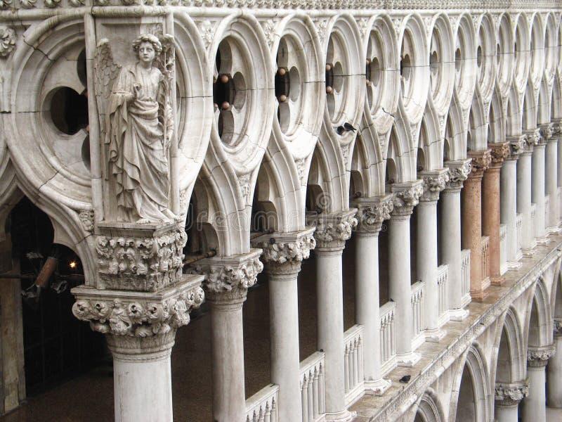 Detalhe de palácio do Doge foto de stock royalty free