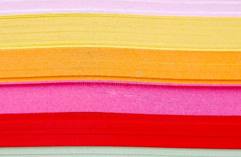Detalhe de papel colorido fotos de stock royalty free