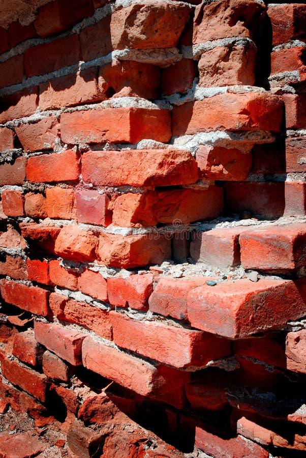 Detalhe de parede de tijolo velha fotografia de stock royalty free