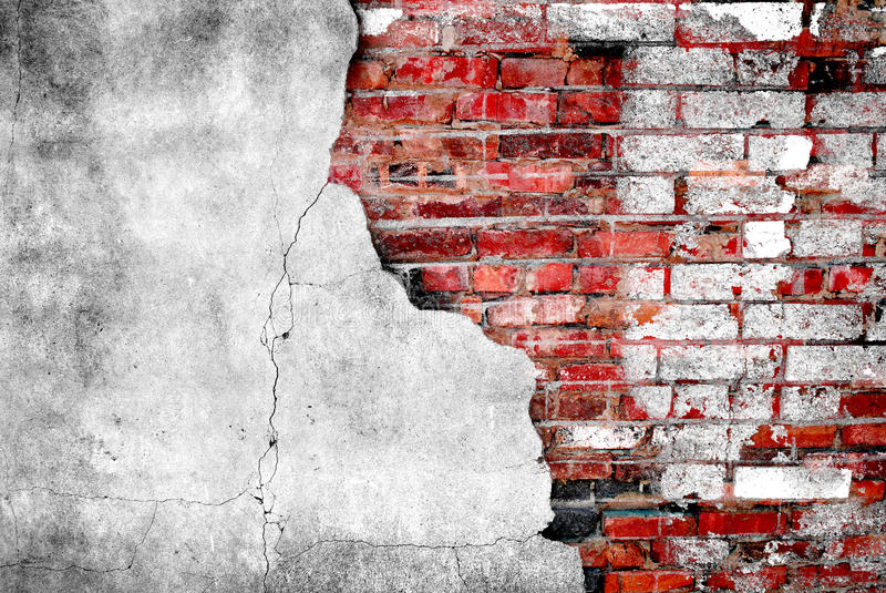 Detalhe de parede de tijolo velha imagem de stock royalty free