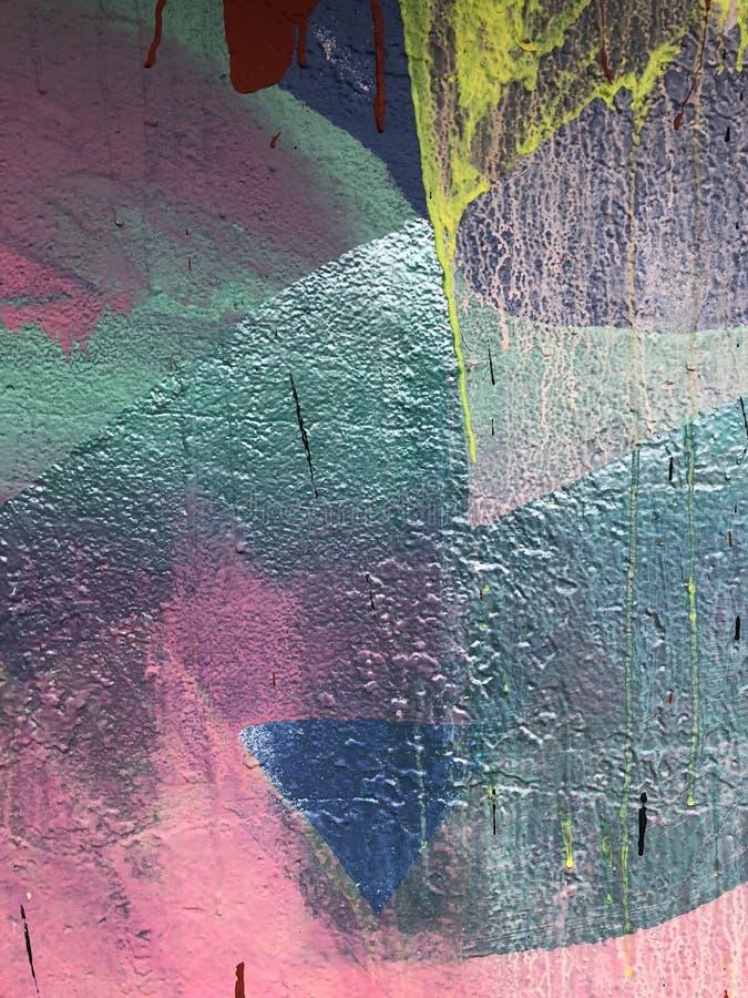 Detalhe de parede pintada estilo livre imagem de stock