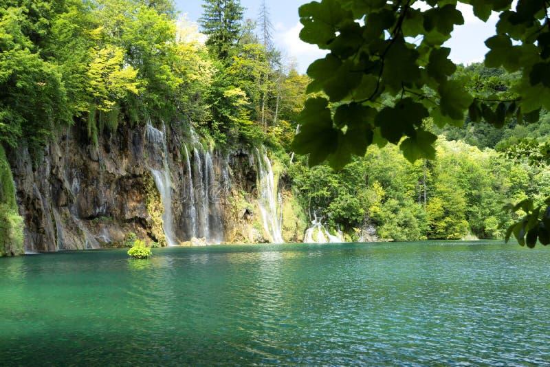 Detalhe de parque nacional de Plitvice imagens de stock royalty free