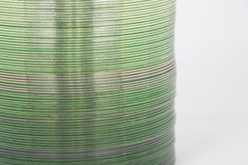 Detalhe de pilha de CD imagens de stock royalty free