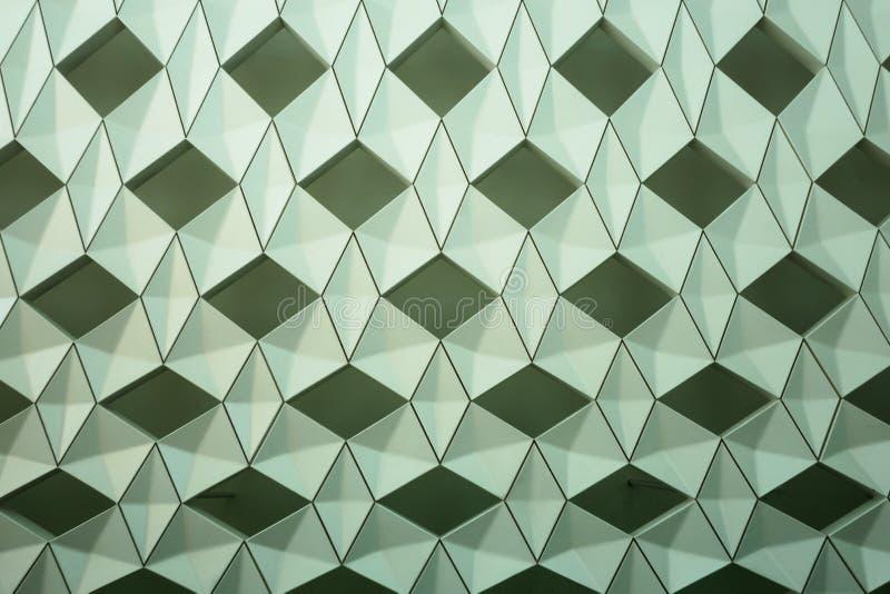 Detalhe de projeto geométrico moderno da parede foto de stock royalty free