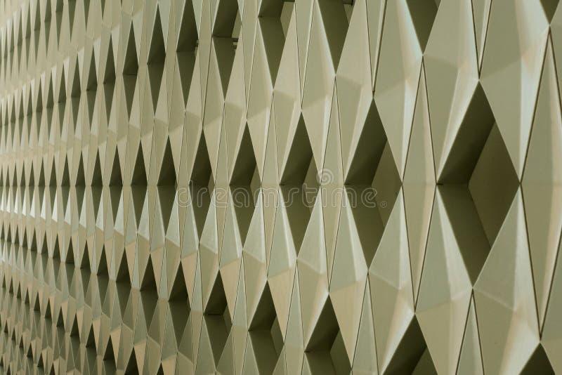 Detalhe de projeto geométrico moderno da parede fotos de stock