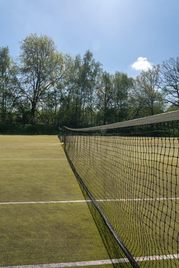 Detalhe de rede do tênis na corte imagem de stock