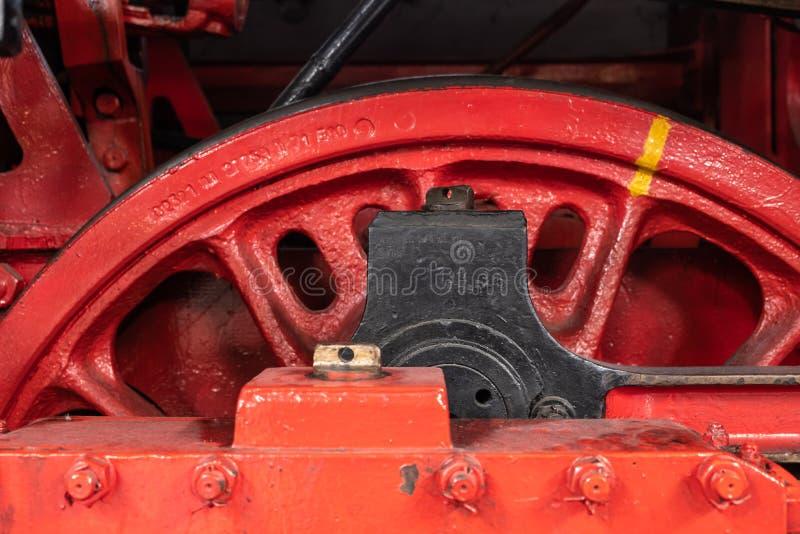 Detalhe de rodas no motor de vapor fotos de stock royalty free