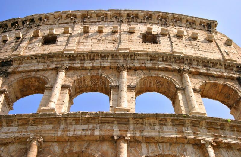 Detalhe de Roma Colosseum fora fotos de stock royalty free