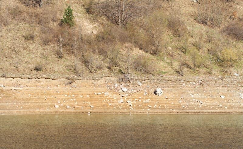 Detalhe de secagem do lago da montanha fotos de stock royalty free