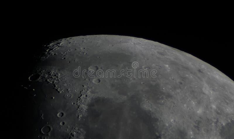 Detalhe de superfície da lua imagem de stock