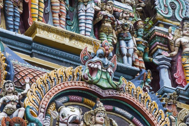 Detalhe de templo de Meenakshi em Madurai, Índia foto de stock royalty free