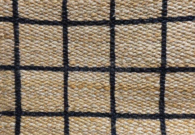 Detalhe de teste padrão pago da textura do Weave de cesta imagens de stock royalty free