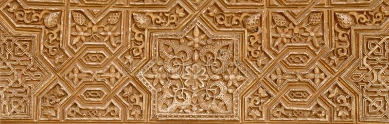 Detalhe de tilework (mouro) islâmico no Alhambra, Granada, Espanha imagens de stock royalty free